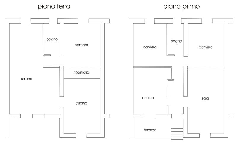 Ssassofortino roccastrada gr appartamento c a 90 90 mq for Camino a due piani