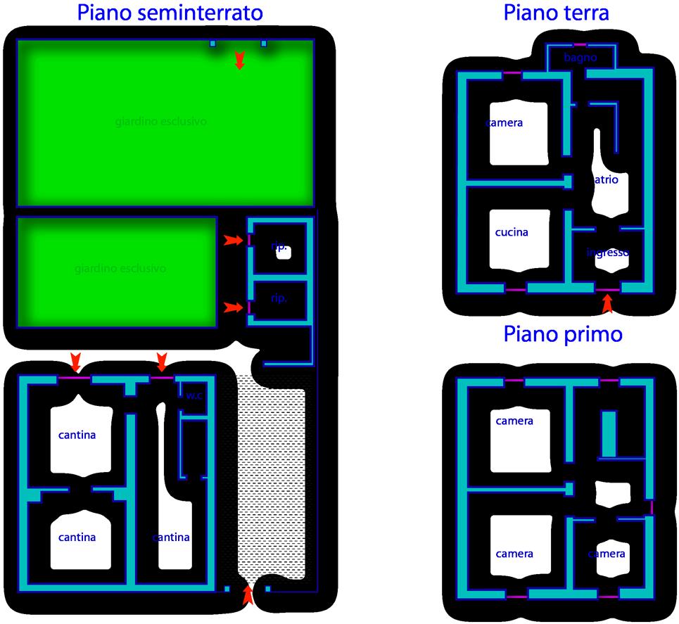 Roccatederighi roccastrada gr casa indipendente con for Aprire piani casa seminterrato